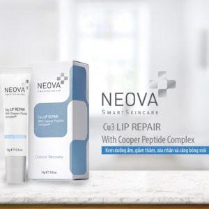 Kem dưỡng ẩm, giảm thâm và căng bóng môi Neova Cu3 Intensive Lip Repair